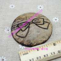 供应新款椰子钮扣 天然卡通椰子扣 儿童服装椰子钮扣