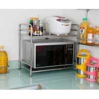 aolx澳利鑫品牌二层不锈钢厨房置物架微波炉架WB258