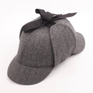 船长帽 福尔摩斯帽子 猎鹿帽 双额帽 定制 高档品销售定做