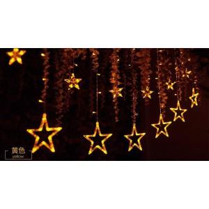 LED彩灯闪灯串灯窗帘灯 橱窗装饰店面庭院星星窗帘背景灯