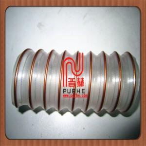 0.9壁厚pu透明软管 吸料管 pu钢丝吸尘管