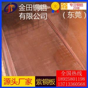 国标T2紫铜板 TP1、TP2紫铜板 河北C1020无氧铜板
