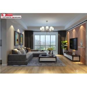 襄阳山水家园123平米现代简约风格装修效果图