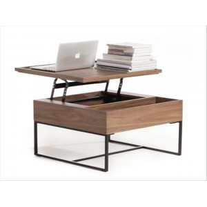 宜家可升降茶几简约现代餐桌两用小户型客厅茶几桌折叠多功能桌子