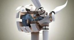 我国最大功率半直驱永磁风力发电机下线