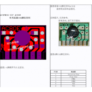 AC8FM36和弦音乐门铃IC / 和弦门铃芯片36首芯片