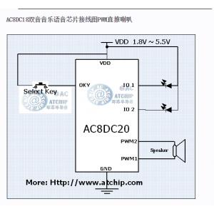 水晶音乐芯片AC8DC20双音圣诞20首水晶音乐IC
