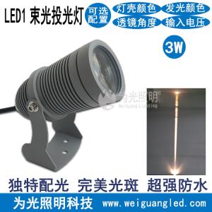 LED小圆头投光灯聚光式户外广告背景墙照射灯 led投射灯