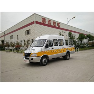 新款依维柯工程车厂家直销9座电力工程车价格