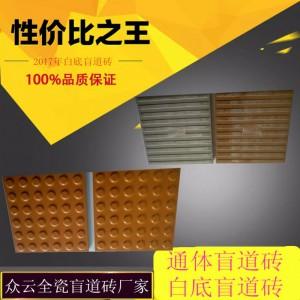 白底盲道砖全瓷盲道砖生产厂家样品免费