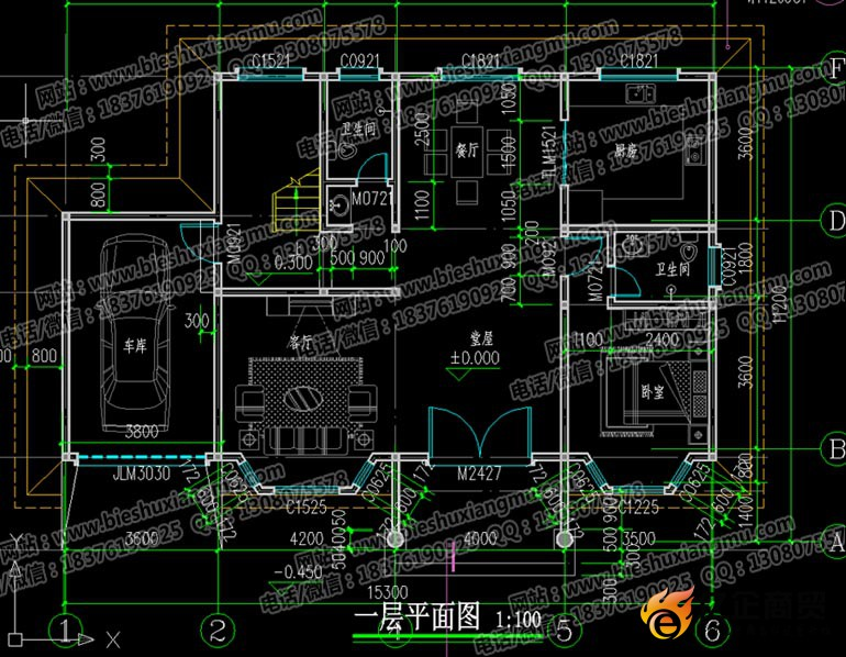 造价30万元左右三层带车库农村自建房设计图