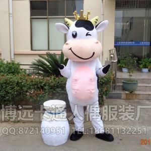 来图定做卡通人偶卡通道具服装,动物模型荷兰奶牛人穿公仔
