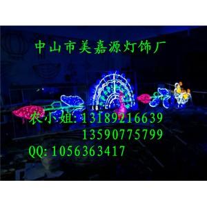建设路LED过街灯 公园夜景灯杆灯 元旦春节市政亮化