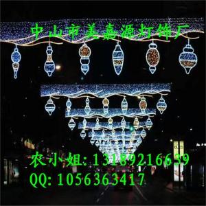 复古款式LED过街灯 梦幻灯光节合作厂家 市政街道美化
