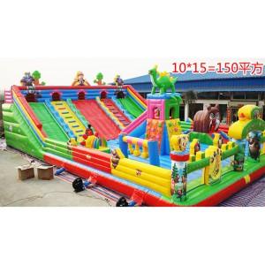 新款充气城堡蹦蹦床大滑梯室内外大型儿童玩具淘气堡乐园游乐设备