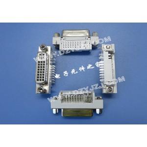 电脑视频接口DVI 24+5 90°DIP带屏蔽壳螺丝母座