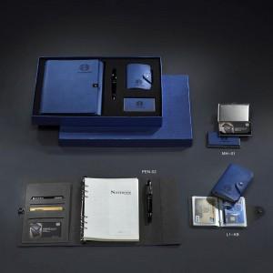 批发高端变色PU本,商务会议记录本,商务记事本套装定做