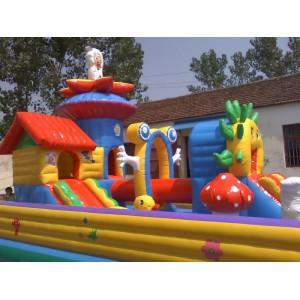 儿童充气城堡室外大型蹦蹦床新款充气滑梯玩具屋