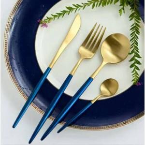葡萄牙西餐餐具不锈钢304刀叉勺三件套牛排刀叉勺咖啡勺刀叉