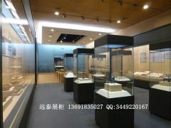 博物馆展示柜|高档文物展柜设计|木质烤漆收藏品展柜