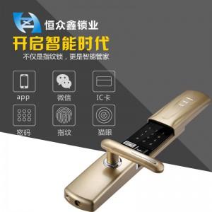 指纹密码锁哪里可以贴牌 恒众鑫锁业 z-enjoy