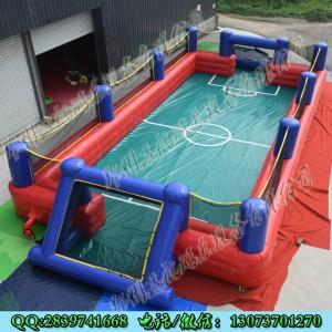 户外大型充气球场 水上足球场 新款防护栏