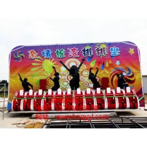 适合各种场地的大型户外新款儿童游艺设施摇滚排排座厂家直销