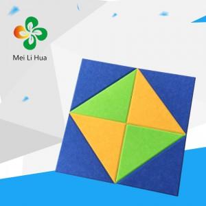 黑龙江市大庆市聚酯纤维吸音板9MM光面深青优质生产商