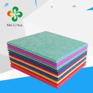 大庆市让胡路区聚酯纤维吸音板美丽华9MM光面灰绿厂家直供