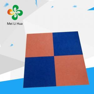 大庆市红岗区聚酯纤维吸音板美丽华9MM光面白色六边形雕刻