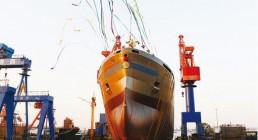 新一代1.86万吨化学品船首制船下水
