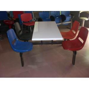 员工餐桌椅,公司餐厅塑钢员工餐桌椅广东鸿美佳厂家提供