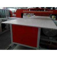 竹木纤维装饰墙板生产线PVC快速整装墙面设备