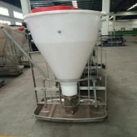 养猪设备猪用料槽不锈钢干湿喂料器育肥食槽自动采食干湿喂料器