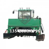 履带式翻堆机 翻抛机 有机肥加工翻堆设备 定制有机肥翻堆机