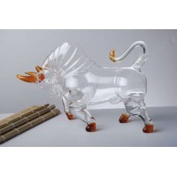 动物造型玻璃工艺牛形酒瓶 玻璃酒瓶厂家