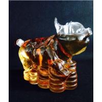 动物造型玻璃酒瓶猪型空心手工艺酒瓶厂家订制