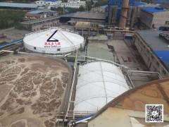 反吊膜污水池加盖除臭异味收集罩,西安反吊膜